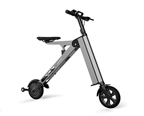 Bikes:  - Allocacoc Folding Electric Bike with Battery Charger Power Cord for Adults(Gray)