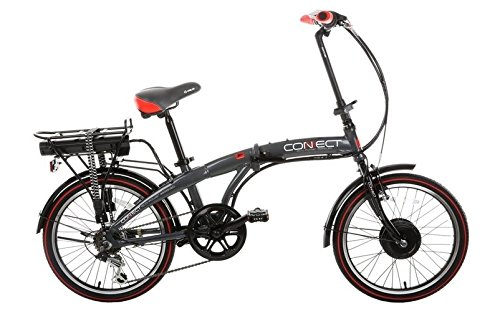 "Bikes:  - Coyote Connect Folding 24 Volt 20"" Wheel Electric Bike Grey"