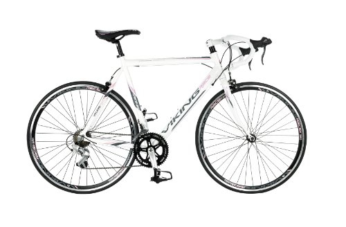 Bikes:  - Viking Women's Elysee STI 700 C 14 SPD Road Racing Bike - White, 53 cm
